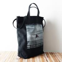 Photo de notre Tote Bag en coton BIKER par Monsieur Charli