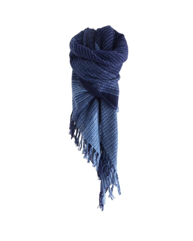 Poncho en laine MALTE indigo