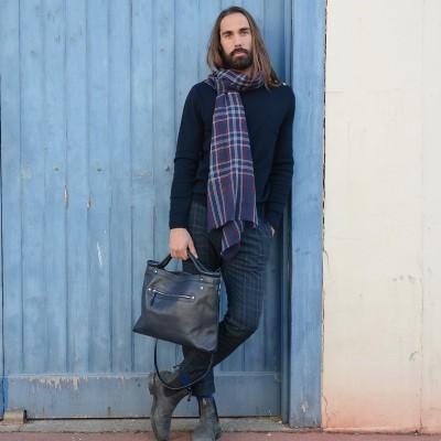 Photo de notre Sacoche en cuir BALDWIN par Monsieur Charli
